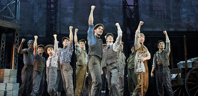 """Disney's Newsies is an entertaining and energetic reminder of what our culture owes to the """"little people"""" in the newspaper industry. Image: Disney, Dean van Meer"""