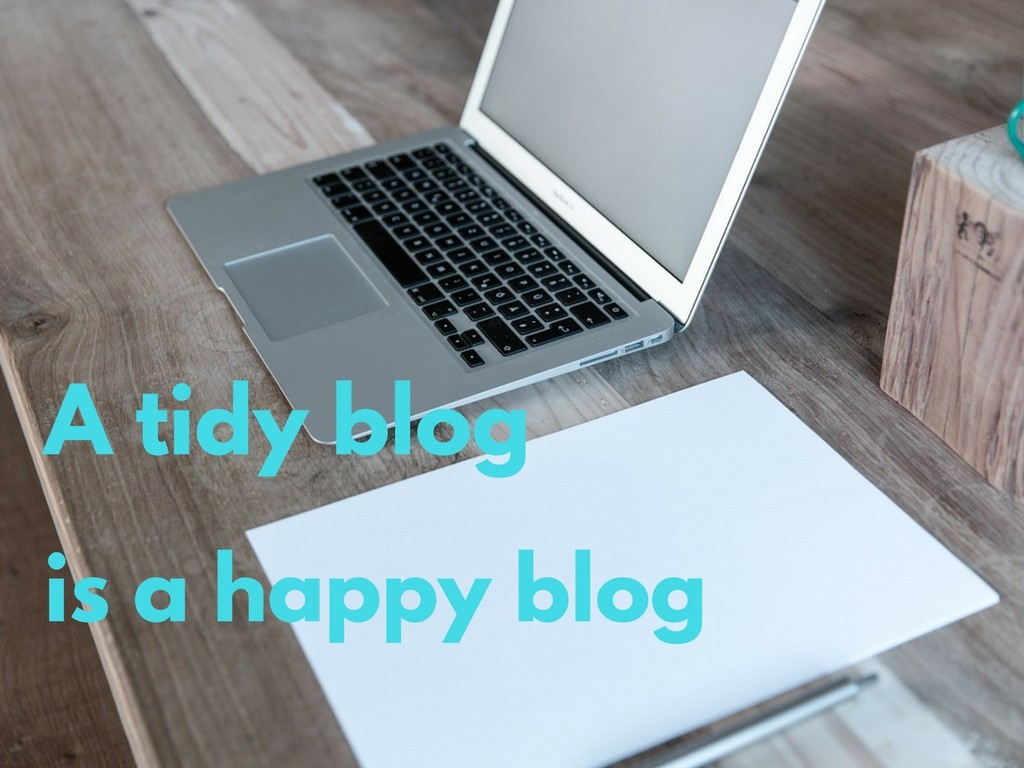 A tidy blog is a happy blog