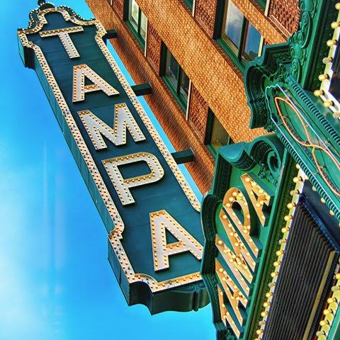 tampa theatre - marquee sign