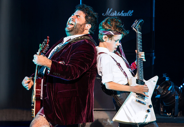 Rob Colletti and Phoenix Schuman in the School of Rock Tour. copyright: Matthew Murphy.